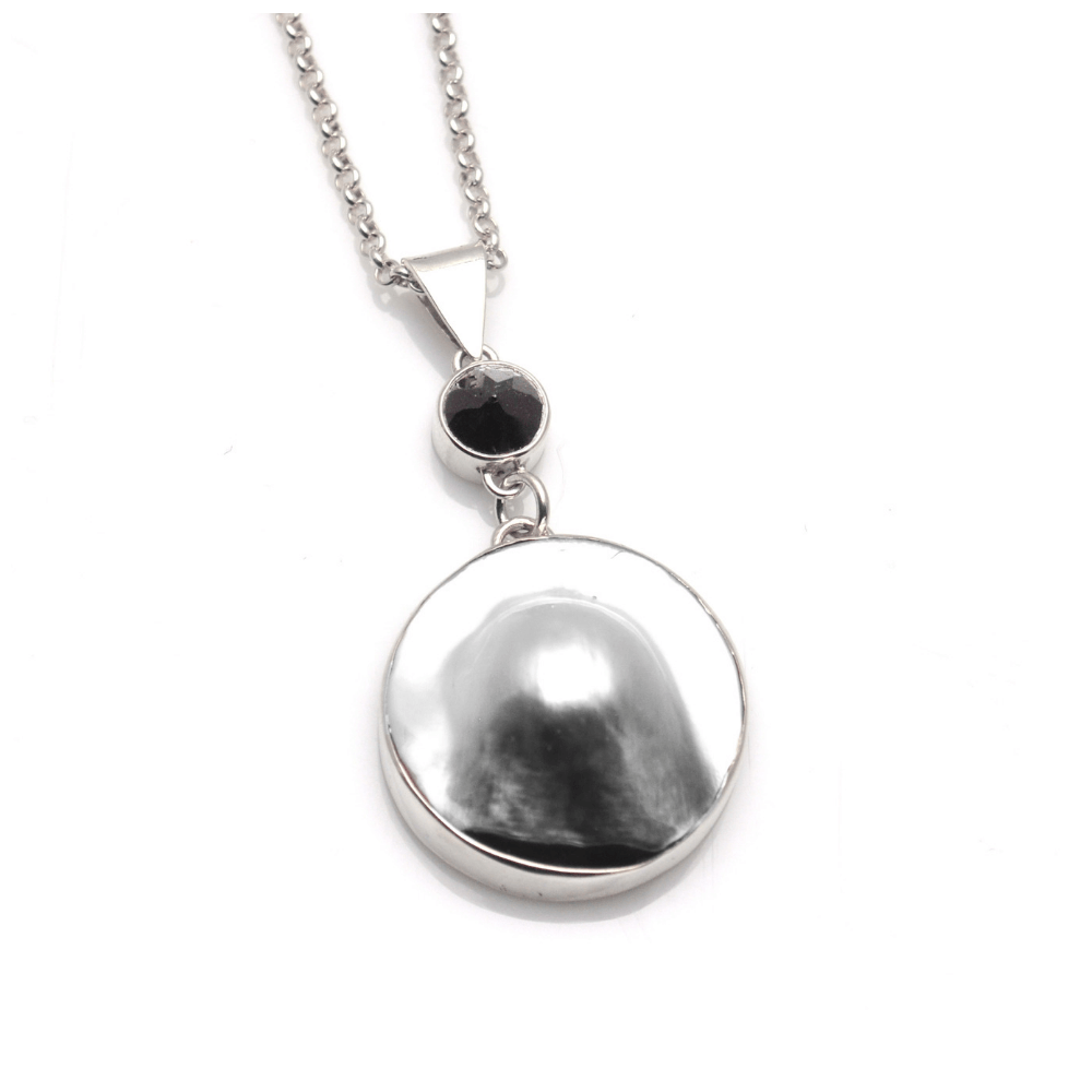 757f49c13ccb9 Artisan Pendant | Tahitian Mabe Pearl pendant with Black Spinel (Large)